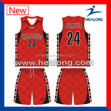 cheap custom made basketball uniform design