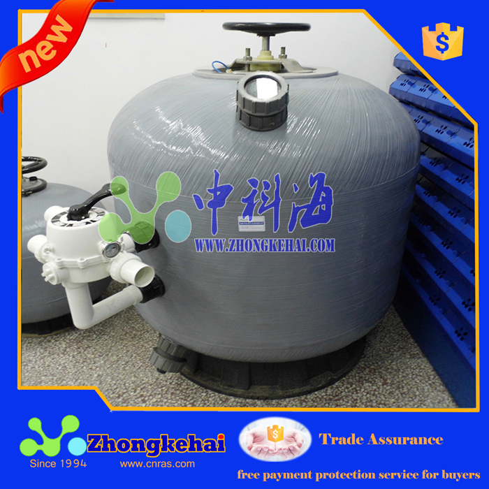 Recirculating water aquaculture water filter Sand Filter