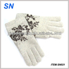 YiWu SN factory wholesale cheap warm knitted custom cute funny winter women knitted 100% wool gloves