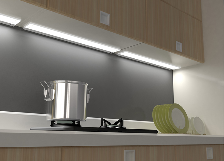 A4A11 led kitchen light infrared heating cabinet lamps, led kitchen panel light new product launch in china
