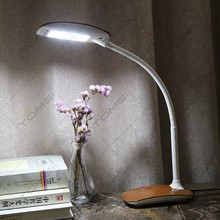 7W Wooden Touch Dimmable Flexible Desk Lamp Led with High Lumen Light