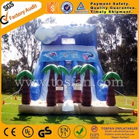 Top selling with double lanes slide inflatable A4033