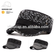 Fashion wholesale military caps new style cheap mens military hat