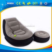 2015 fashion and cheap flocking air inflatable bed sofa for sale made in china