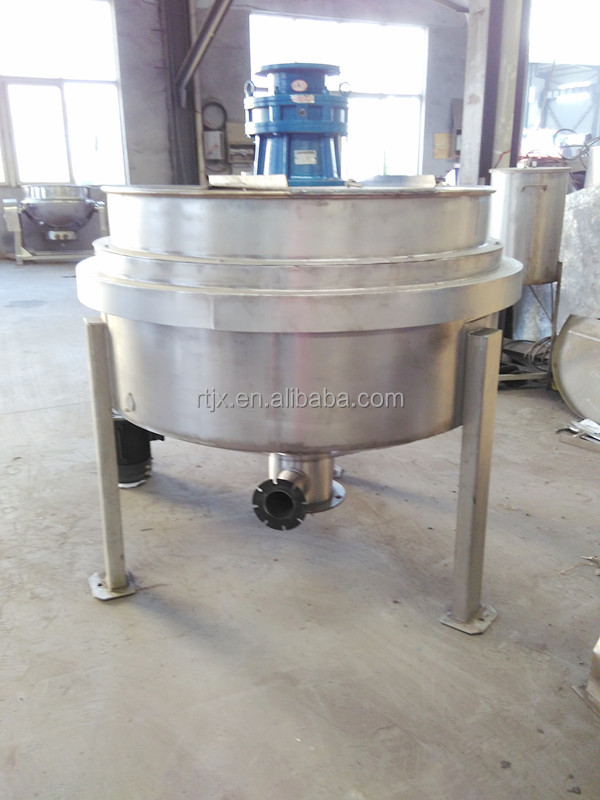 Tilting type double steam jacketed kettle with agitator