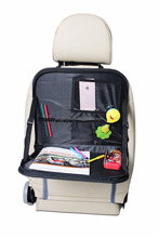 CS0127 Backseat Folding Car Organizer With Tray Table For Kids
