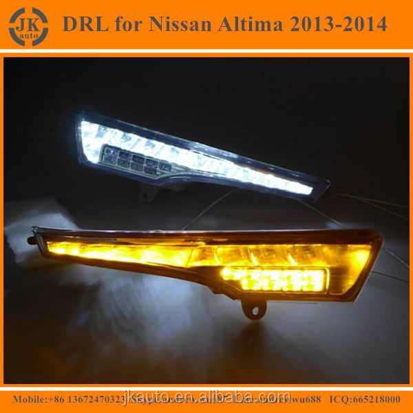 Hot Selling Car Specific LED Daytime Running Light for Nissan Altima High Quality LED Fog Light for NIssan Altima 2013 2014