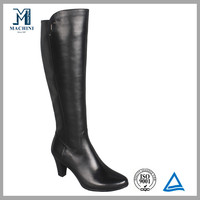 Italian design winter genuine leather boots women over the knee boots
