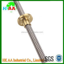 Mechanical parts cnc machining stainless steel lead screw