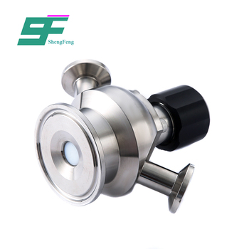 Good quality stainless steel sanitary pipe fittings sample valve for wholesale