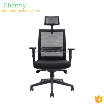 Cheap high back swivel executive mesh back office lift computer chairs with headrest CM-OC005