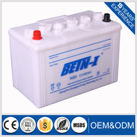 best price 12v 80ah N80 dry charged automotive battery in stocks