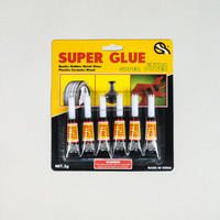 6pkextra strong epoxy premium quality Super Glue for plastic glass rubber paper