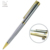 luxury gold carved metal twist ball pen plated silver roller pen with promotional gift