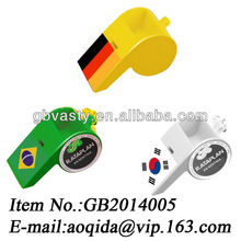 plastic whistle football fans whistle promotional whistle