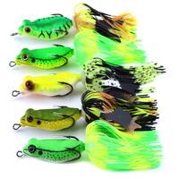 Fishing Bait Soft Frog Bait 5 Colors Plastic Fishing Lures 4cm/8g Fishing Tackle