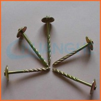 made in china umbrella head roofing nail with neoprene washer