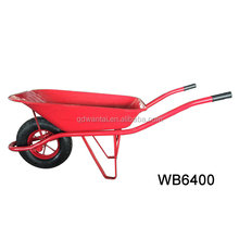 building construction tools and metal tray material and pneumatic wheel wheelbarrow WB6400