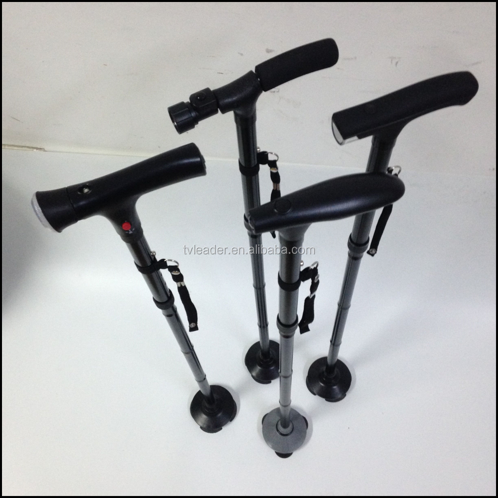 Folding walking Cane With Led Light and SOS Alarm for Blind/ elderly people