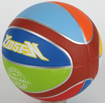 XIDESEN QIANXI rubber professional basketball 12 panels,colorful printed rubber