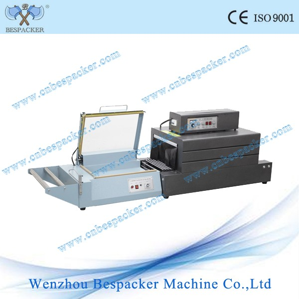 Small L bar sealing and shrink wrapping packing machine