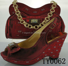 2015fashion Italian shoes and bags to match women,shoes and matching clutch bag