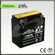 Rechargeable high power 12n9 three wheel motorcycle battery