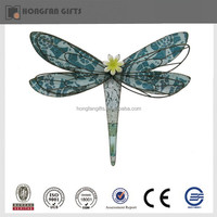 2014 new iron garden metal dragonfly decoration