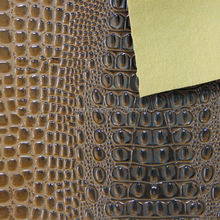2015 fashion design PVC crocodile leather for sofa upholstery fabric usage