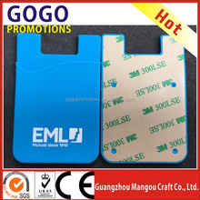 Custom made wholesale 3M Cellphone Sticker Silicone Phone wallet pocket, promotional gift pocket business card holder