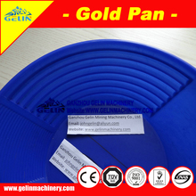Low cost alluvial diamond pan for placer diamond mining