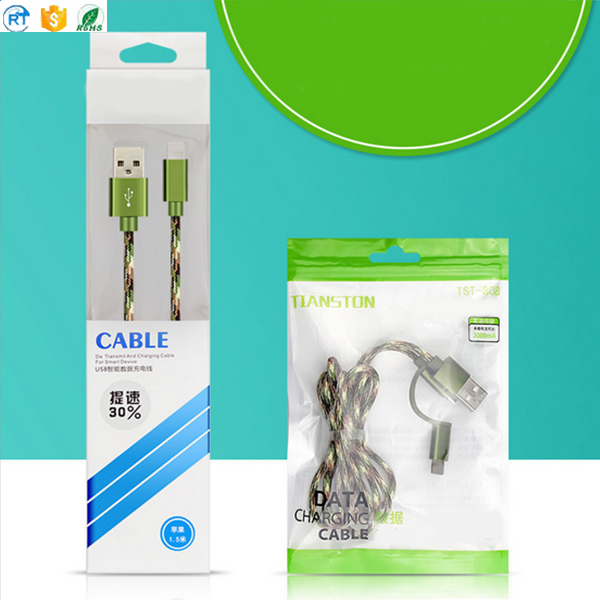 Nylon Braided 1M Micro Mobile Phone USB Charging Cable For iPhone Android Phone