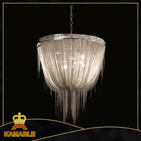 Modern Silver Chain Lighting hotel project pendant lamp