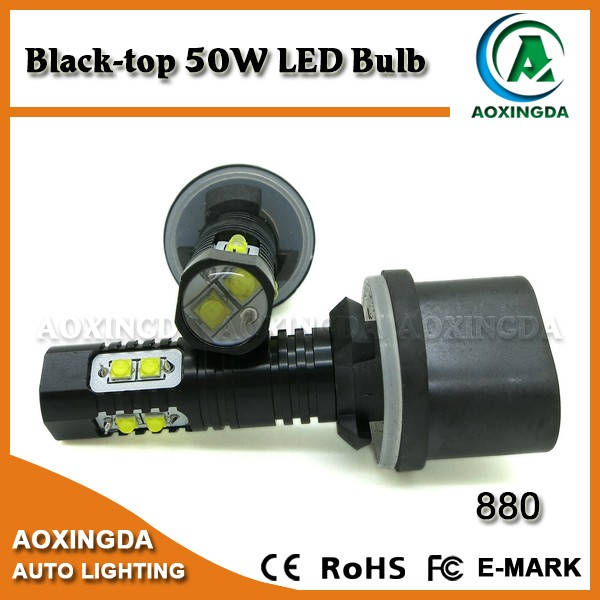 12 Volt high power 50w automobile 880 890 892 led fog light bulb black body series