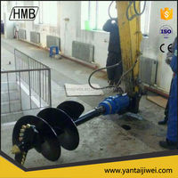 High quality hydraulic post hole digger/ soil hole digger