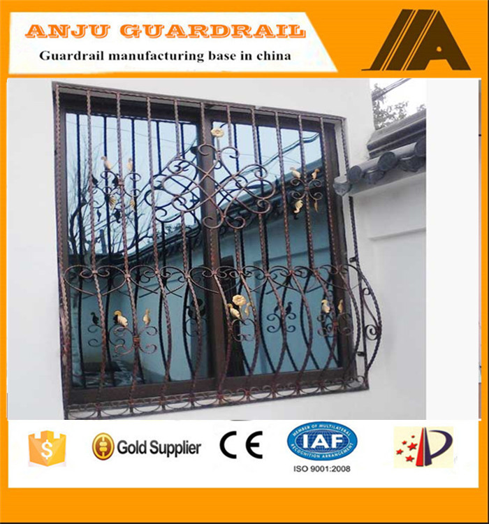 window grill-007 Eco friendly,weather-reistance,Trellis&gates types iron window grill color