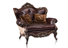 Luxury French Baroque Classic Living Room Sofa Set/Royal Palace Antique Sofa 1 Seater