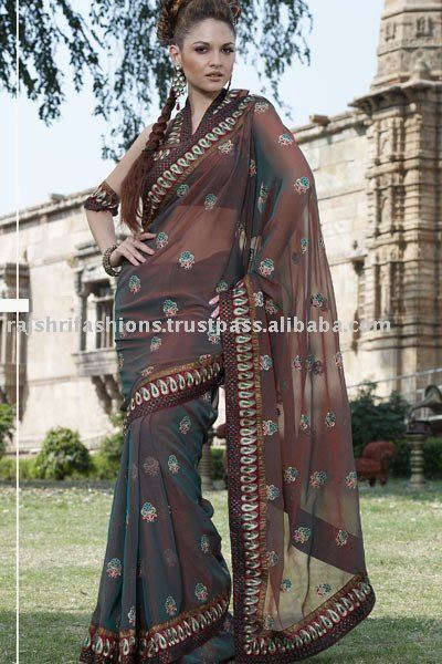 Double Shaded Party wear Sarees