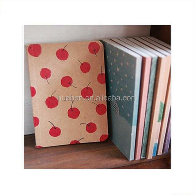 2016 wholesale a4/a5 kraft paper travel notebook