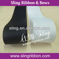 3 inch Grosgrain Ribbon in White and Black