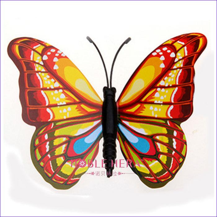 pvc coloful 3d butterfly kitchen decor buy butterfly