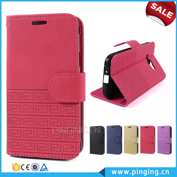 Wholesale Retro Pattern Wallet Stand PU Leather Folio Case For Blu Dash <strong>L2</strong> D250L With Card Slot Case