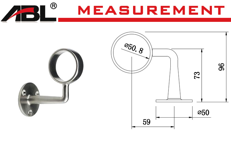 Handrail project accessories stainless steel handrail pipe fitting for sale