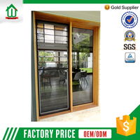 Large adjustable aluminum frame exterior glass louver door