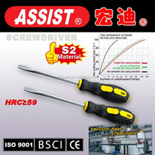 assist multifunction screwdriver with torch High quality Slotted and phillips professional Rubber handle long screwdriver