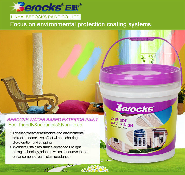 Berocks Exterior paint, 18L Exterior Water based House paint
