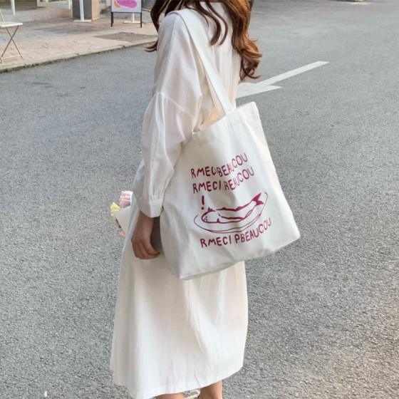 eco friendly cotton fabric shopping bag
