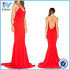 Yihao New Design Girls 2016 Sexy Long Dresses Ladies Party Wear Casual Clothes Fashion Red Strapless Women Formal Dress 2015