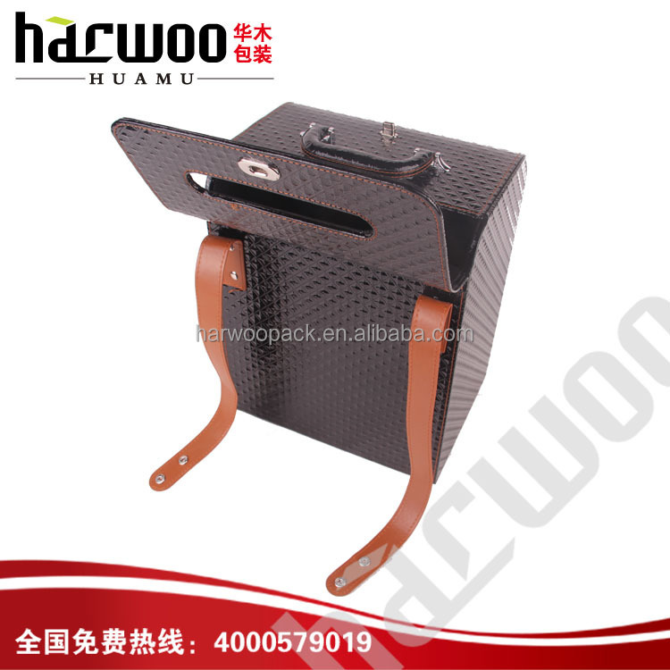Precious Pu leather wine case like bag