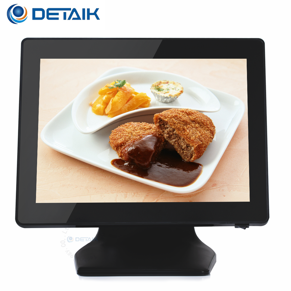 Fanless 15 Inch Ture Flat Resistive or Capacitive Touch Screen All-In-One POS System